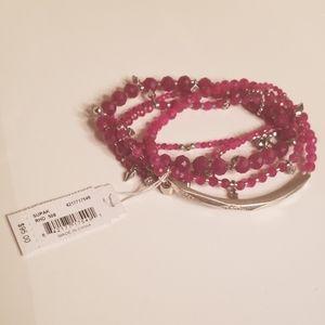 Kendra Scott Supak Bracelet Set Maroon Jade Rhod